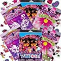 Over 50 Asstd. Tattoos - Girls Theme