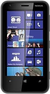 Nokia Lumia 620 (9,7 cm (3,8 pouces) écran tactile, Snapdragon S4 dual-core, cadencé à 1 GHz, 512 Mo de RAM, un appareil photo 5 mégapixels, Win 8) noir mat