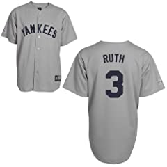 Babe Ruth New York Yankees Road Cooperstown Replica Jersey by Majestic by Majestic