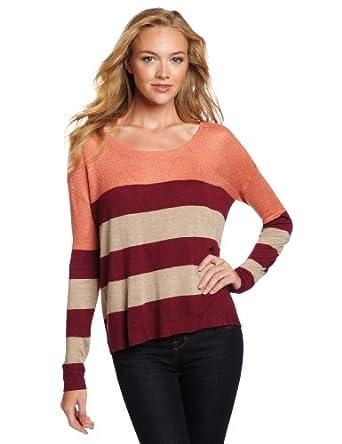 (新品)Kensie Women's Drapey Striped Sweater 女式条纹针织衫 $78