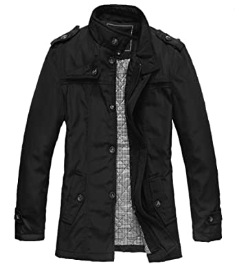 WantDo Men's Fashion Cotton Jacket Waterproof Coat for Slim Person
