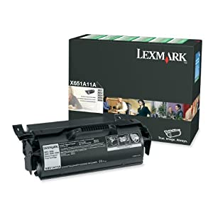 Lexmark X651A11A Return Program Black Toner Cartridge