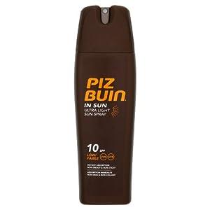 Piz Buin In Sun Tan Lotion Ultra Light Spray SPF 10 200ML ...