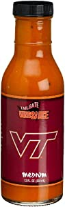 Tailgate Virginia Tech Medium Wing Sauce, 12-Ounce Glass Bottles (Pack of 6) from Tailgate