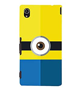 Cartoon Eye Design 3D Hard Polycarbonate Designer Back Case Cover for Sony Xperia M4 Aqua :: Sony Xperia M4 Aqua Dual