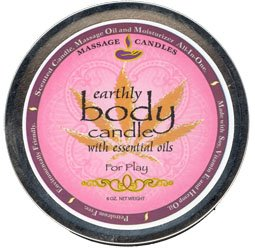 Earthly Body 3 in 1 Suntouched MASSAGE CANDLE FOR PLAY 6 OZ