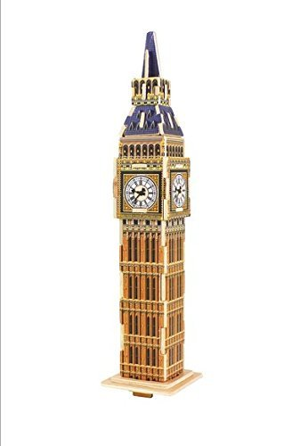 Totoer®Big Ben  3D Jigsaw Puzzle Woodcraft Kit Wooden Toy Puzzle Model - 1