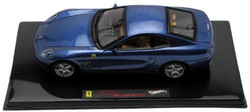 MODELLINO Auto HotWheels- Ferrari 612 Scaglietti Blu Scala 1:43 (Novita')