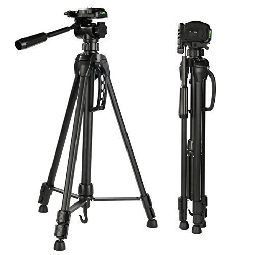 K&F Concept Trépied Appareil Photo en aluminium Tête 3D rapide 3 Sections pour Caméra Vidéo Canon Nikon Sony sac de transport inclus