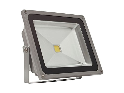 LED MCOB 50 W, bianco neutro 4500 K outdoor piantana IP65 3010lm