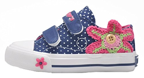 Pointss Girls' New Low Top Canvas Skateboard Shoes Magic Sti