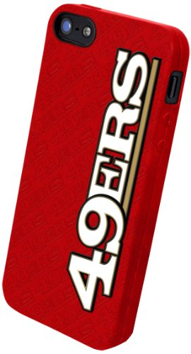 Special Sale Forever Collectibles San Francisco 49ers Team Logo Silicone Apple iPhone 5 & 5S Case