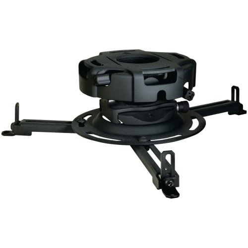 Peerless Precision Projector Mount with Spider Universal Adaptor Plate - Black