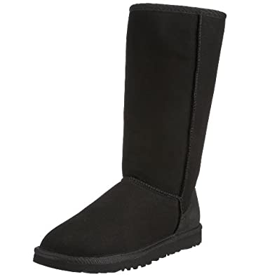 UGG Australia Womens Classic Tall Black Boot - 8