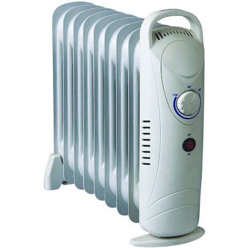 4f4aed9852c Cheap 2x 1000W Oil Filled Electric Portable Radiator Compact Mini 9 Fin  Thermostat Heater