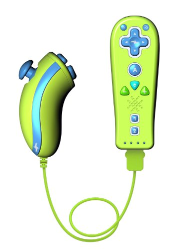 Wii Kid Friendly Remote and Playchuk - Mini Green