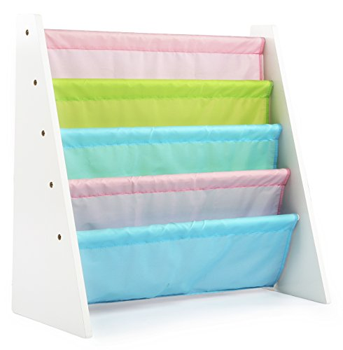 Tot Tutors Kids Book Rack Storage Bookshelf, White/Pastel (Pastel Collection) (Kids Room Organization compare prices)