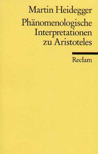 Phänomenologische Interpretationen zu Aristoteles.