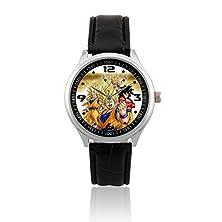 buy Fashion Adult Wrist Watch Leather Band Psl115 Dragon Ball Z Son Goku #3W
