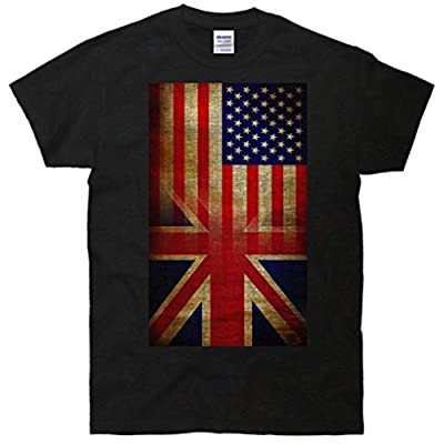 Vintage USA British Distress Flag T-Shirt