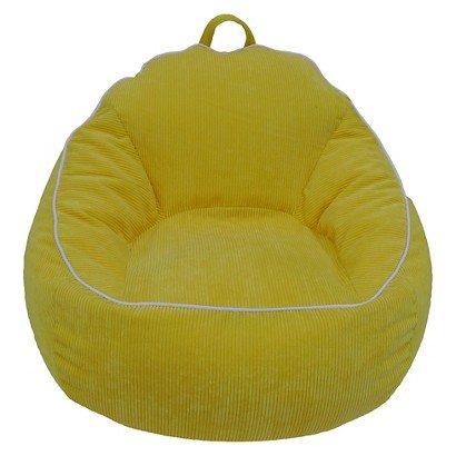 XL Corduroy Bean Bag Chair Pillowfort Gerbera Yellow