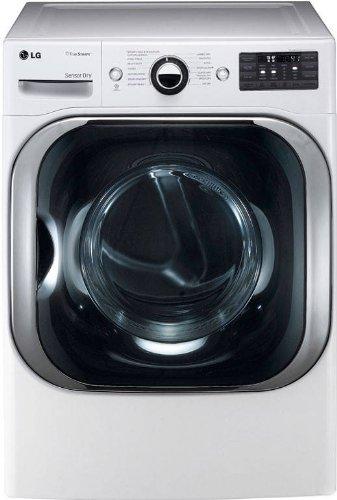 LG DLGX8001W 29-Inch Gas Steam Dryer with 9.0 Cubic Feet Mega Capacity, White