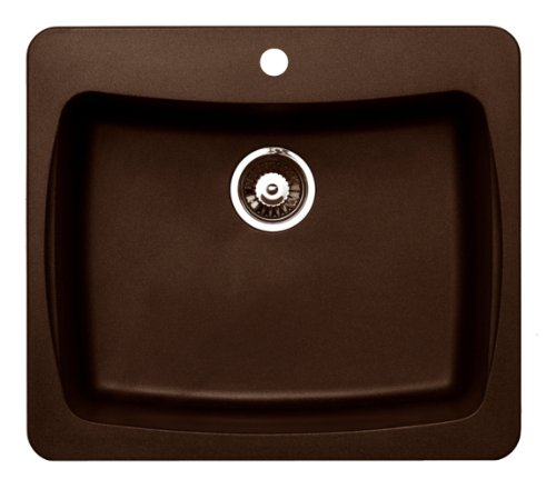Pegasus AL10MC 25-Inch by 22-Inch Granite Single Bowl Kitchen Sink (Metallic Chocolate)