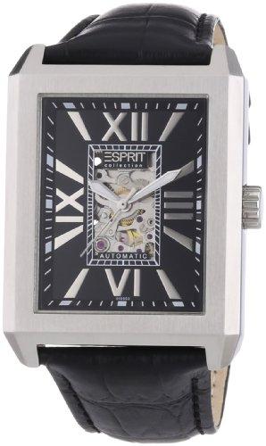 Esprit Collection xanthos night EL101051F01 - Reloj analógico automático para hombre, correa de cuero color negro (agujas luminiscentes)