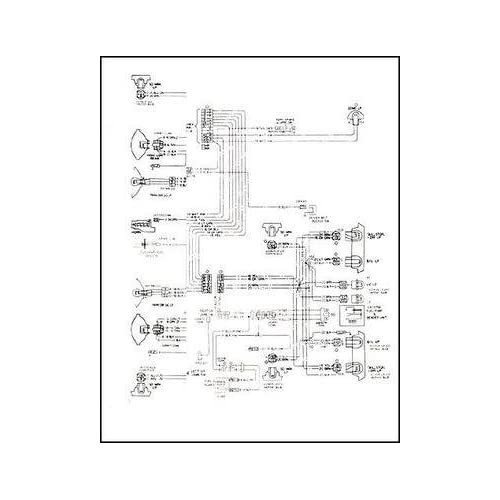 1968 pontiac firebird wiring diagram manual reprint