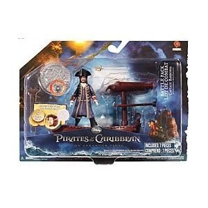 Pirates of the Caribbean On Stranger Tides Battle Pack Captain Barbossa Actionfigur mit Boot , 10cm