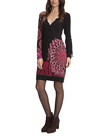 desigual yustine robe boule manches longues femme v tements et accessoires. Black Bedroom Furniture Sets. Home Design Ideas