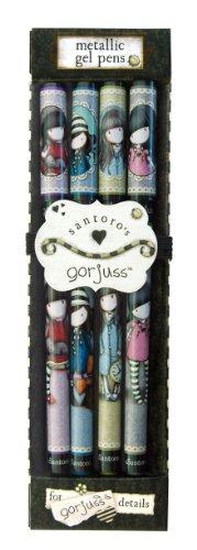 Santoro Gorjuss - Juego de bolígrafos de tinta de gel (4 unidades)