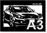 "PAPER CUTOUTS of ""MAZDA RX-8"" design(1)-A3 size"