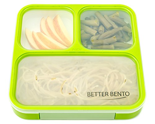better bento lunch box great for school portion control and meal prep green hardware tools. Black Bedroom Furniture Sets. Home Design Ideas