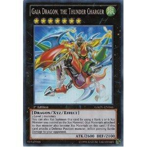 Amazon.com: Yu-Gi-Oh! - Gaia Dragon, the Thunder Charger (GAOV-EN046