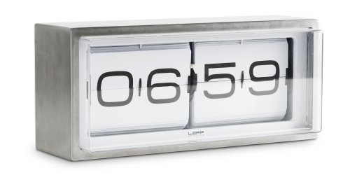 Brick Wall Clock Type: 24 Hour, Color: White