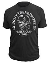 Dont Tread On Me Brand - Helmet Headz - Vintage T-Shirt DTOM (X-LARGE)