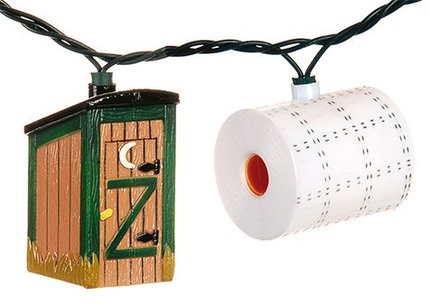 Outside Inside-Party Lights Outhouse/Toilet Paper
