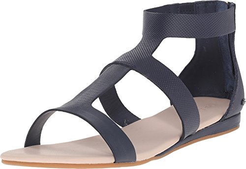 Lacoste Women's Atalaye 116 1 Gladiator Sandal, Navy, 6 M US