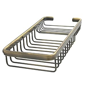 BSK-60SR Style Rectangular Shower Basket - Antique Copper By Allied Brass