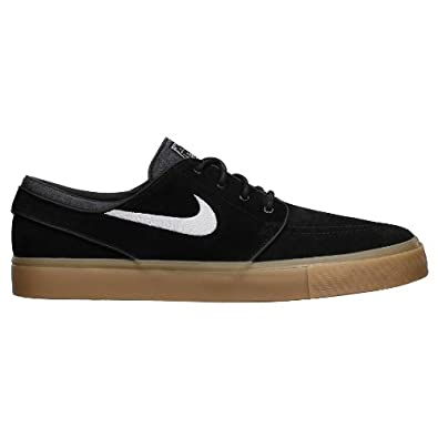 Nike SB Zoom Stefan Janoski - Black / White-Gum Light Brown, 8 D US