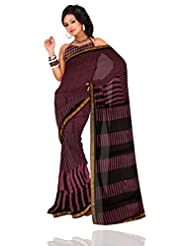 Unnati Silks Women Pure Kota Silk Saree Black And Pink Bagru Printed Saree With Matching Blouse