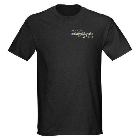 Archery Genius Funny Dark T-Shirt by CafePress