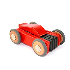 Tegu Dart Magnetic Wooden Car - Red/Black