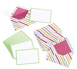 Martha Stewart Crafts Modern Festive Striped Card and Envelope Set