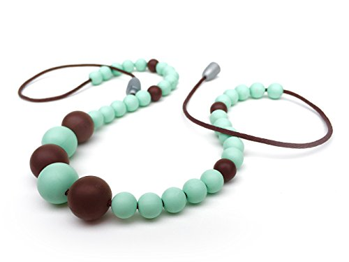 Willow + Mae - Anastasia Silicone Teething Necklace for Mom and Baby - Mint/Chocolate