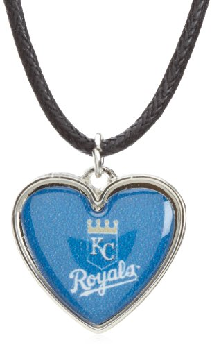 MLB Kansas City Royals Crystal Heart Reversible Necklace at Amazon.com