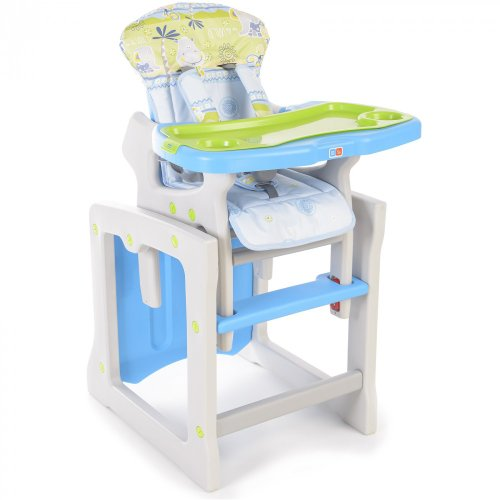 Baby Hochstuhl 2in1 - multifunktionell - Made in EU, Farbdesign:blau