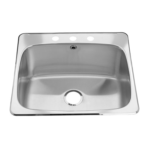 American Standard 21SB.252283.073 Prevoir 25.63-Inch Stainless Steel 3-Hole Topmount 12-Inch Deep Single Bowl Utility Sink, Brushed Satin