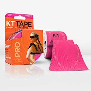 KT TAPE PRO Elastic Kinesiology Therapeutic Tape - 20 Pre-Cut 10-Inch Strips by KT Tape